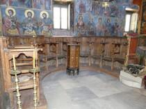 Monastère de Leimonos intérieur de l'église interdite aux femmes