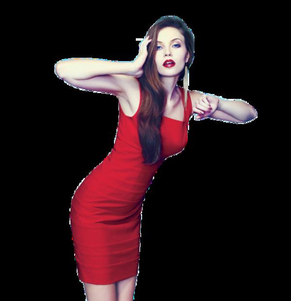 Femme vétue de rouge / 4