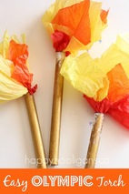 Happy Hooligans - Olympic Torch craft for kids.