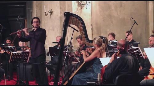 MOZART - Flute & Harp concerto, K 299 - 2nd movement - Andantino  (Classique)