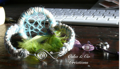 Bracelet dream catcher ou attrape-rêve avec fermoir