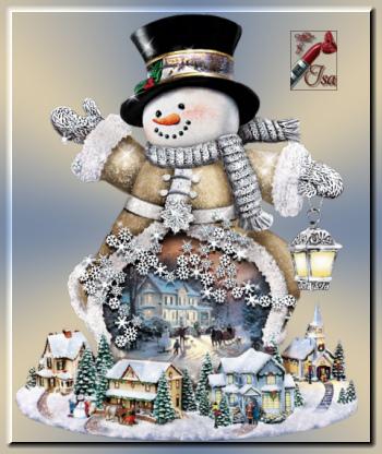 DN0035 - Tube bonhomme de neige
