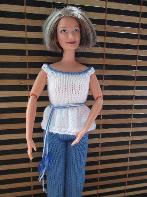 Tunique et pantacourt pour mamy barbie