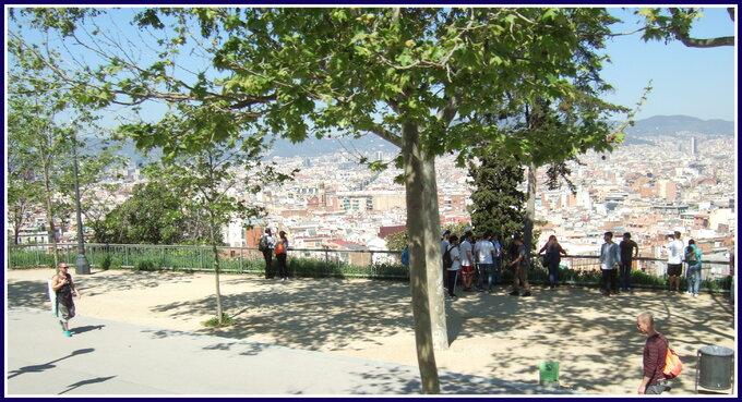 Barcelone...sur la collinede Monjuic...