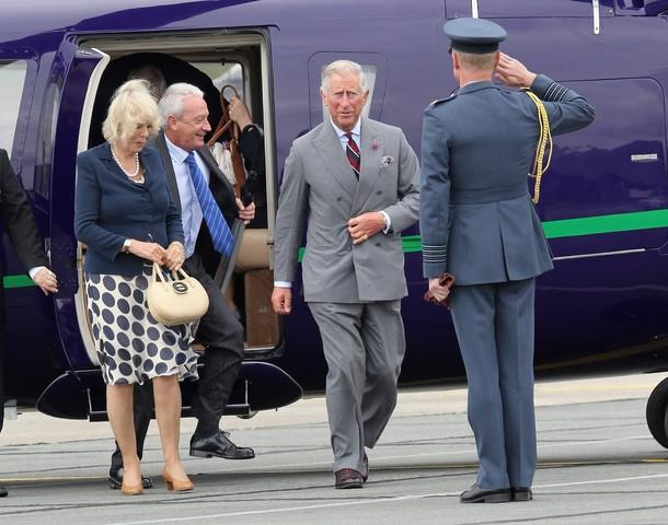 Camilla, Charles et William