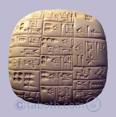 copie d'une tablette d'écriture cunéiforme, dynasties sumériennes archaïques - Arts et sculpture: sculpteur, artisan d'art