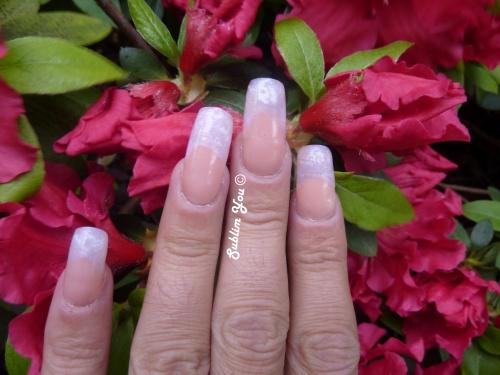 Pigement holographique violet et rose