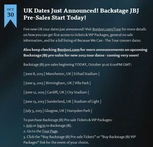 UK Dates Just Announced! Backstage JBJ Pre-Sales Start Today!