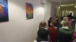 Visite de l'exposition à l'Espace et Vie de Précigné