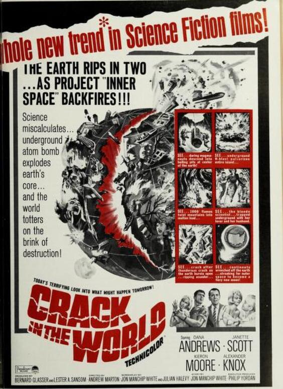 CRACK IN THE WORLD BOX OFFICE USA 1965