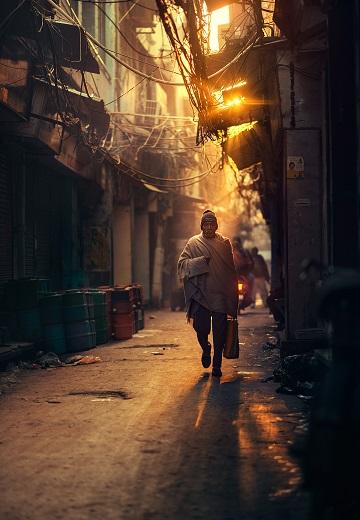 Dans les rues de Dehli ...