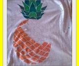 DIY fashion: t-shirt ananas/ Fashion DIY : pineapple t-shirt!