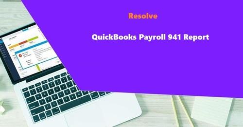 QuickBooks Payroll 941 Report