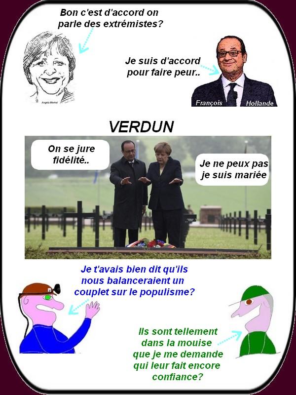 Alors que la CGT intesifie les grèves Hollande et Merkel s'unissent contre le populisme.