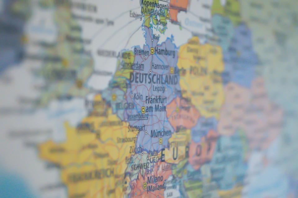 Allemagne, La Carte, République, Carte, Voyage, Europe