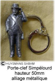 Objet de diffusion du Patrimoine: porte-clés en métal Simpélourd - Arts et sculpture: sculpteurs, artisans d'art