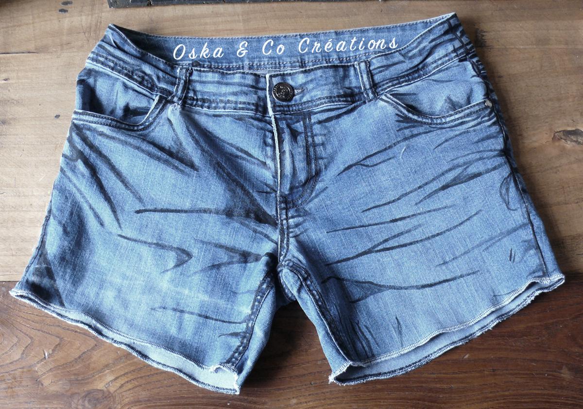 transformer jean en short