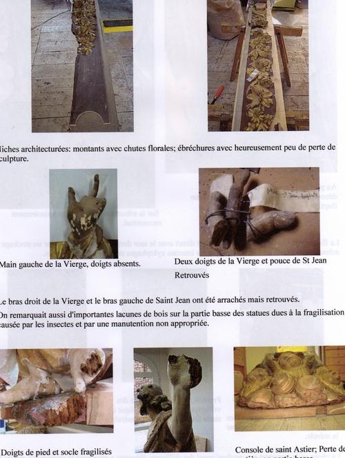 Quelques éléments du rapport de restauration du retable de Catus
