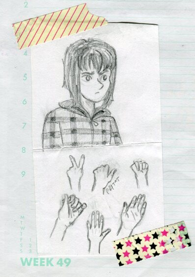 Quand je m'entraîne à dessiner des mains