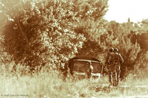 Les Spahis à Valence: simulation de crise, évacuation de population