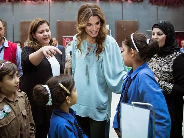 Rania au musée