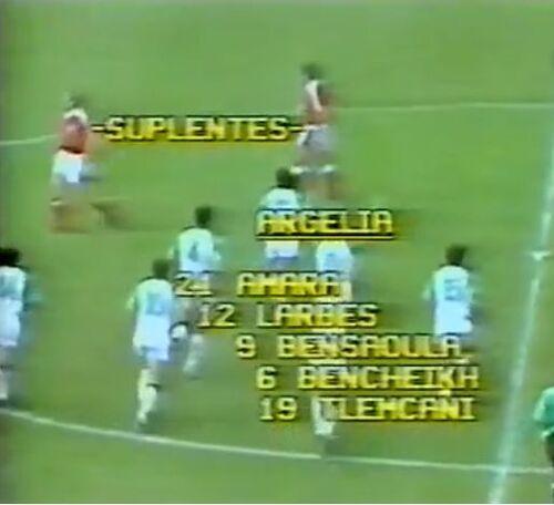 BENCHEIKH Ali et l'équipe d'Algérie