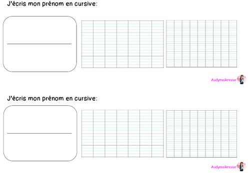 Évaluation diagnostique d'écriture début de CP - méthode d'écriture