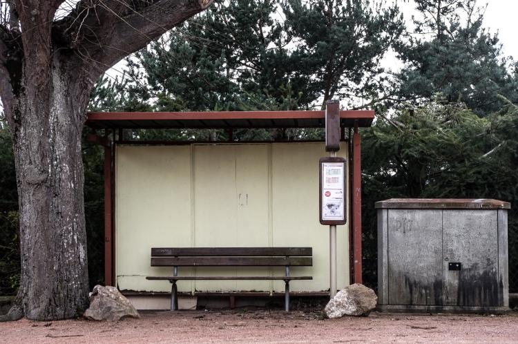 Juste un abribus #10, Saint-Léger-sur-Roanne, février 2014