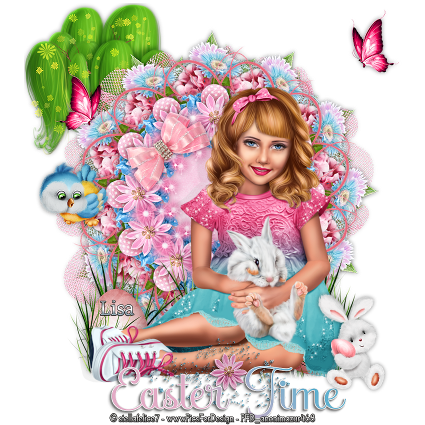"Ma réalisation du tuto ""Easter Time"""