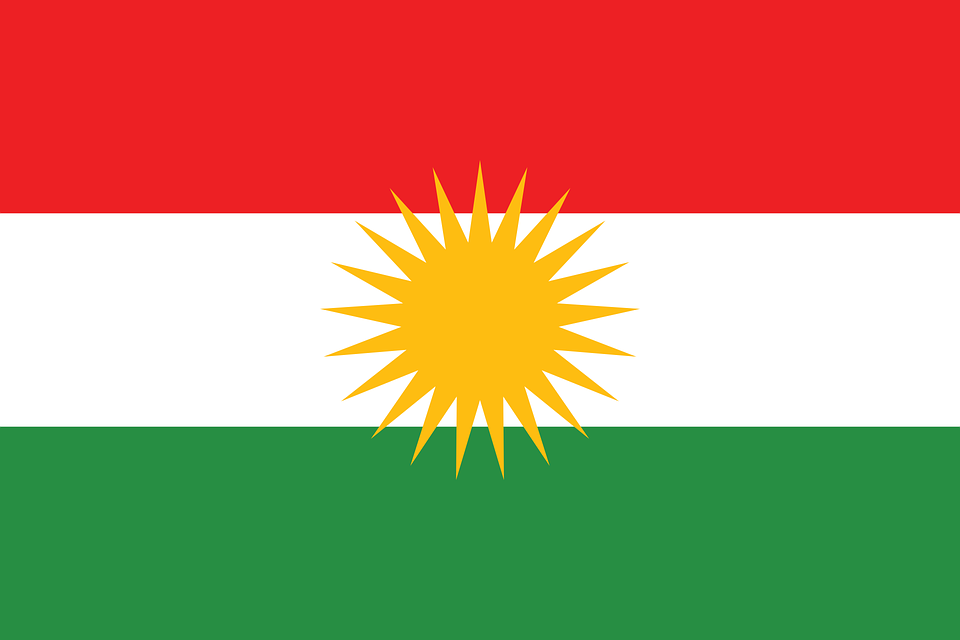 Kurdistan, Drapeau, Pays