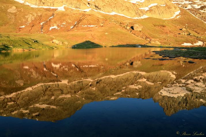 Couché de soleil sur le lac de la Blanche