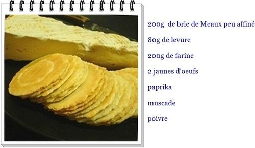 Galettes de Brie de Maux au paprika