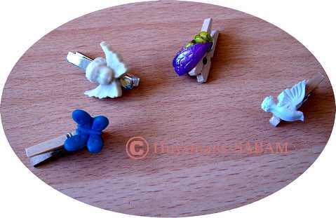 Exemples de mini-pinces décorées personnalisées - Arts et sculpture: sculpteur, artisan d'art