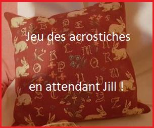 PROMENADE AU PARC, jeu des acrostiches en attendant Jill