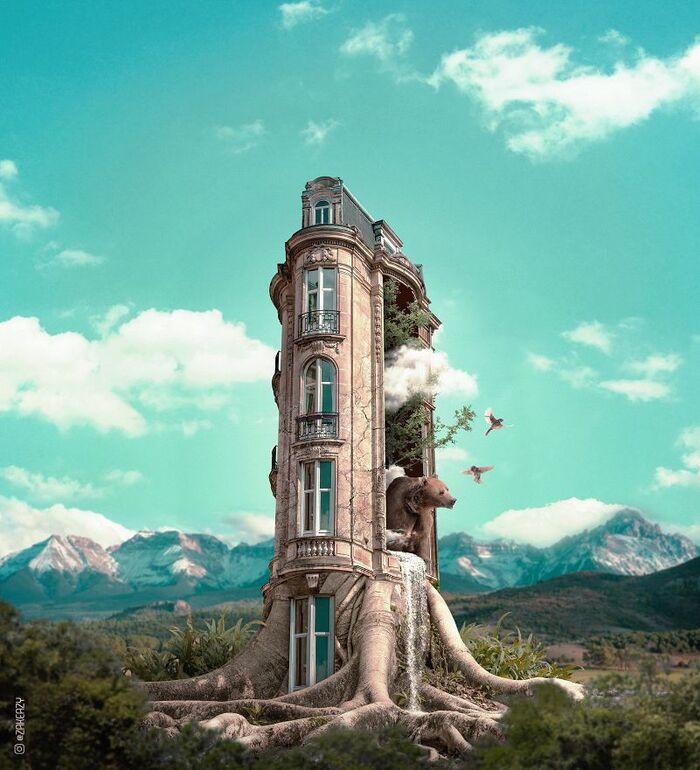 Les Créations digitales surréalistes de Zak Eazy