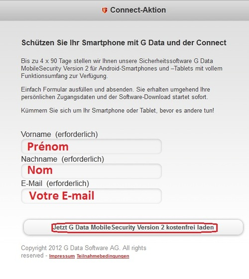 G Data MobileSecurity Version 2 - Licence 90 jours gratuits