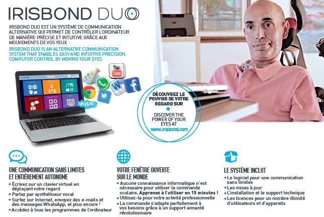 La commande oculaire Irisbond Duo est disponible en France