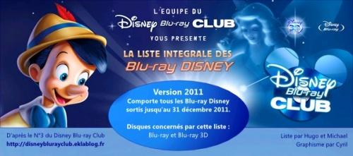 Liste intégrale des Blu-ray Disney