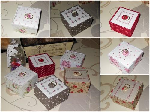 Petites boites pour l'expo...