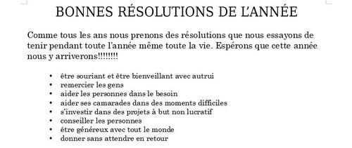 Bonne année 2019 et nos résolutions!
