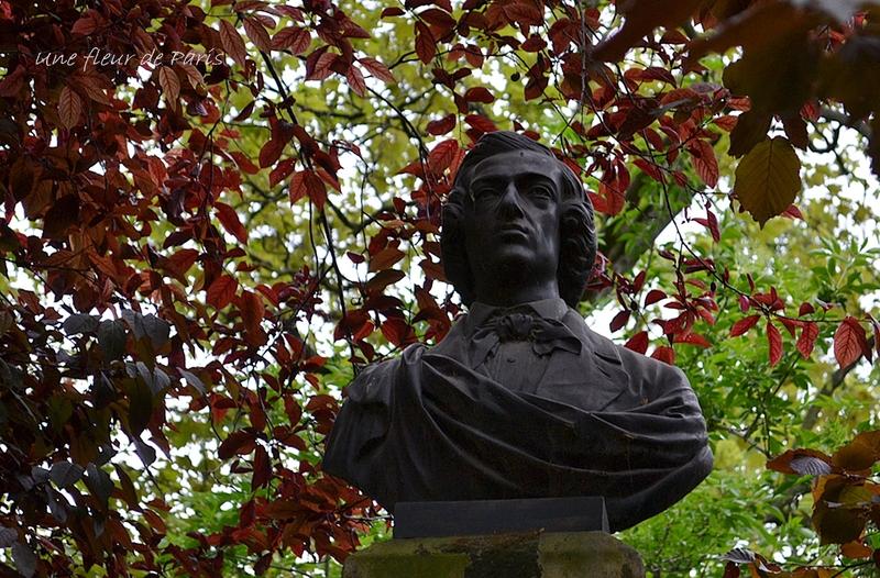 Jardin du Luxembourg : Fryderyk Franciszek Chopin (Statue de Georges DUBOIS)