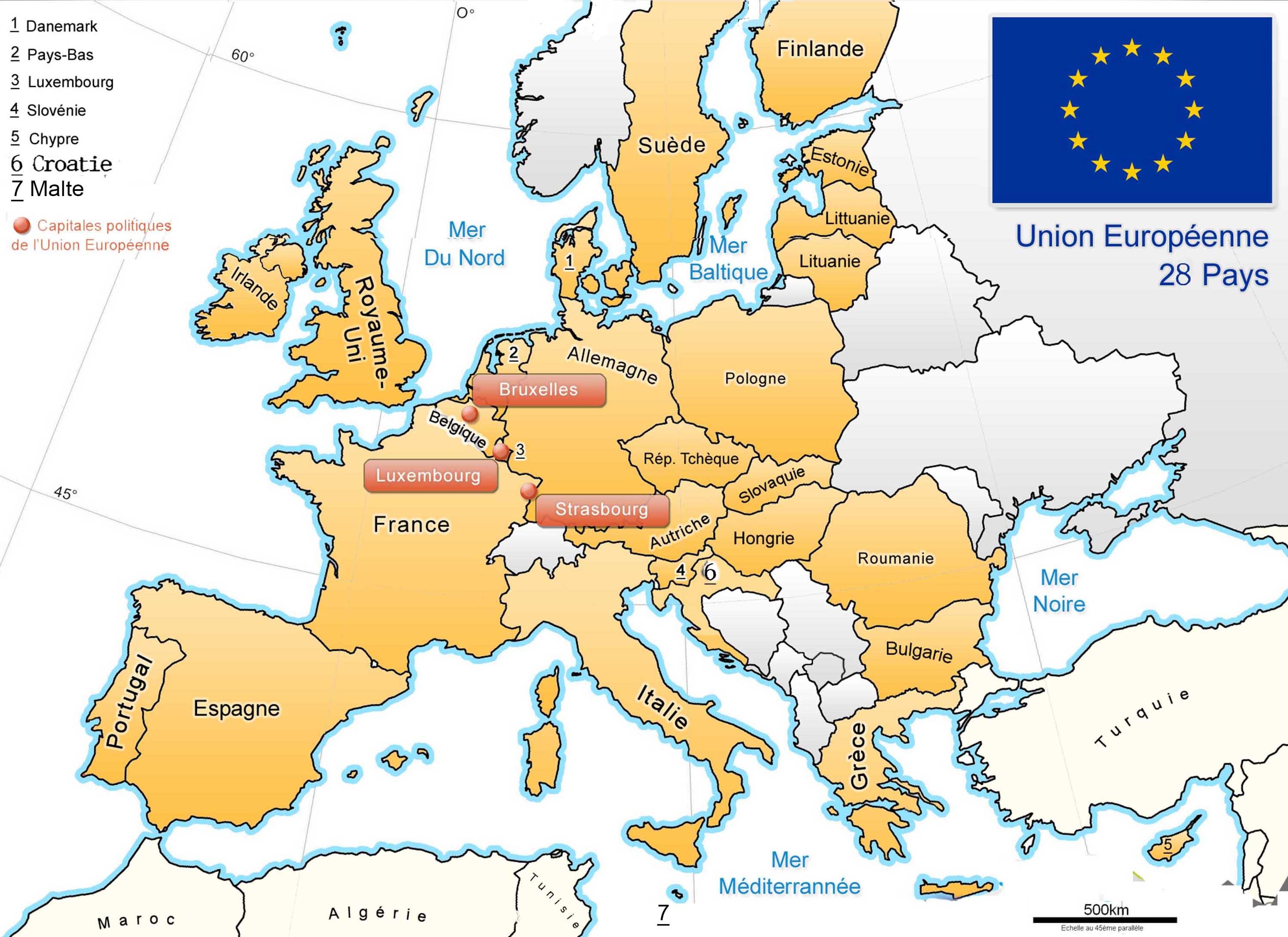 carte europe cm1