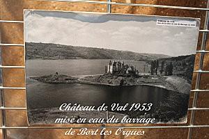 château de Val -15- mise en eau du barrage