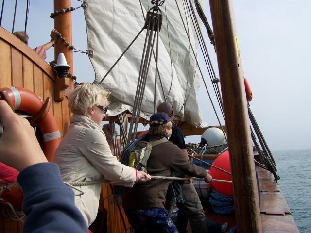 Embarquement sur le voilier Tante Fine