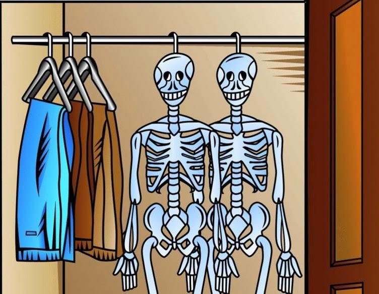 skeleton in the closet idiom 2