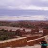 aït ben haddou - le village depuis la kasbah