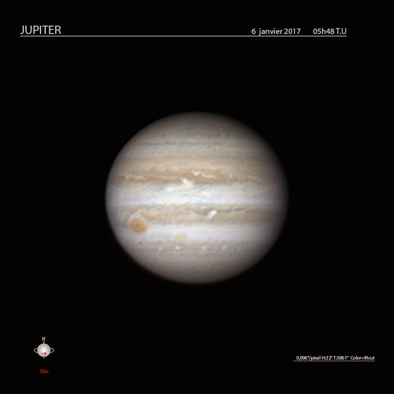 Jupiter le 6 janvier