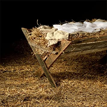 Amazon.com: AOFOTO 5x5ft Vintage Manger Filled with Hay Background Barn  Crib Birth of Christ Child Photography Backdrop Stable Newborn Jesus  Nativity Photo Studio Props Kid Baby Infant Portrait Xmas Wallpaper: Camera  &