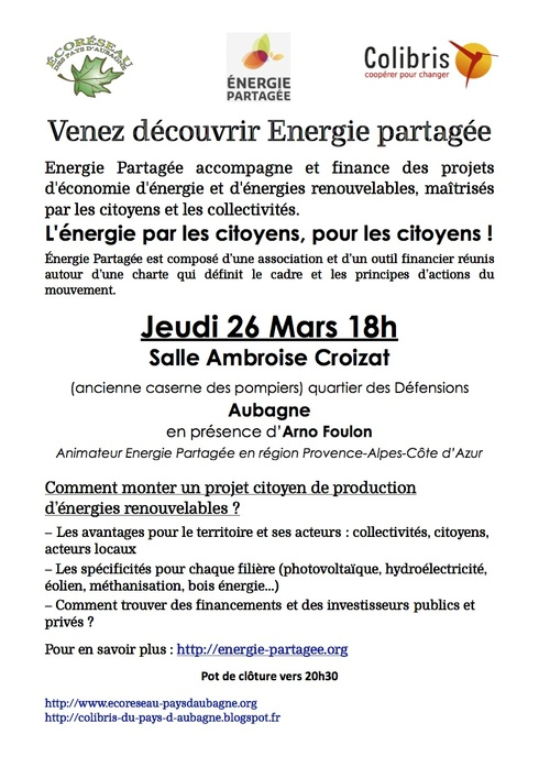 Conference Energie Partagée