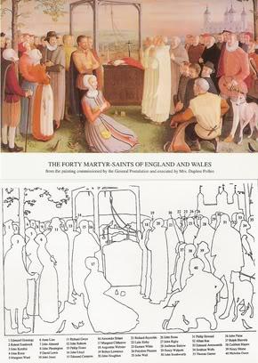 Saint Roger Dickenson et ses compagnons, martyrs en Angleterre († 1591)